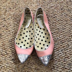 Pink sparkle flats